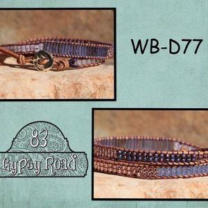 WB-D77 beaded double wrap bracelet